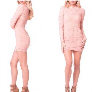 Blush Scrunch Bodycon Dress